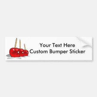 3 Red Candy Apples Bumper Sticker