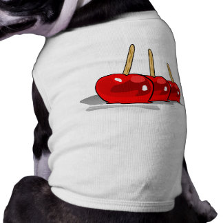 3 Red Candy Apples Doggie Tshirt