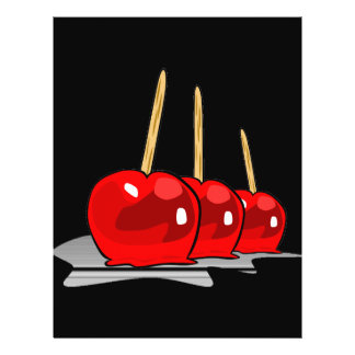 3 Red Candy Apples Flyer