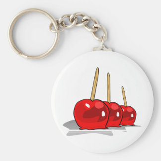 3 Red Candy Apples Key Chain