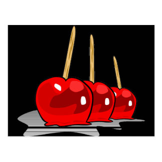 3 Red Candy Apples Postcard
