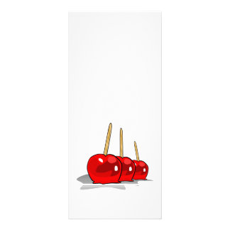 3 Red Candy Apples Rack Card