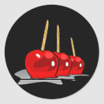 3 Red Candy Apples Stickers