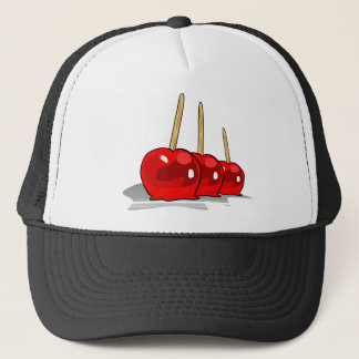 3 Red Candy Apples Trucker Hat