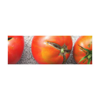 3 Red cracked Tomatoes Canvas Print