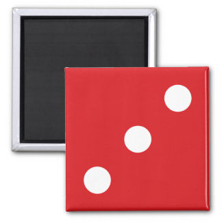 3 Red Dice Magnet