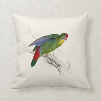 #3-Red-fronted parrakeet Throw Pillow