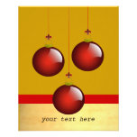 "3 Red Ornaments 4.5"" X 5.6"" Flyer"