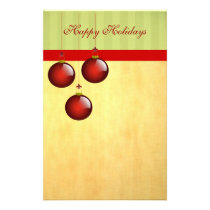 3 Red Ornaments Stationery