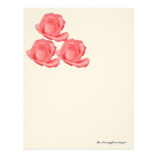 3 Red Roses Letterhead