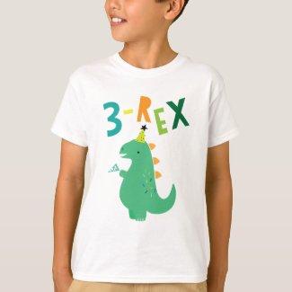 3-Rex Birthday Shirt