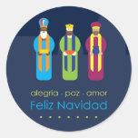 3 Reyes Classic Round Sticker