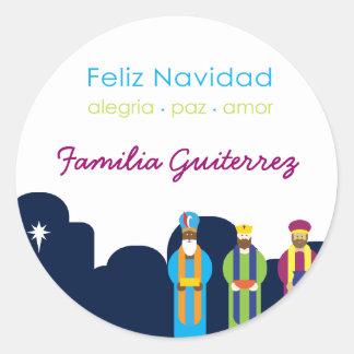 3 Reyes Greeting Sticker