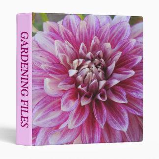3 Ring Binder--Pink Dahlia Binder