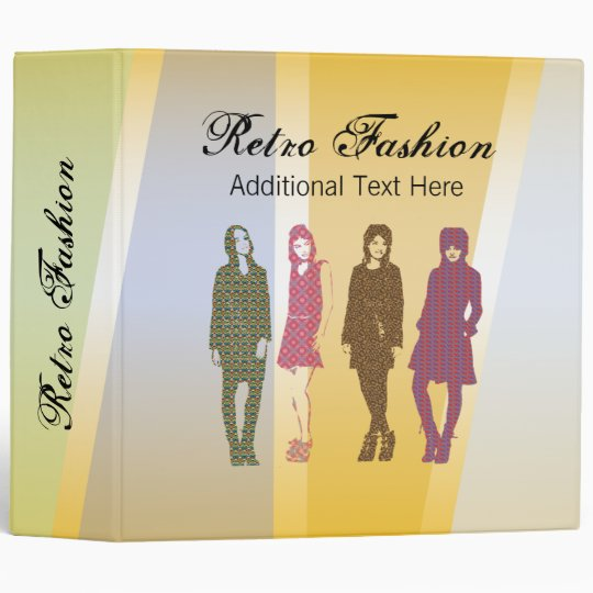 3 Ring Binder Template Retro Fashion