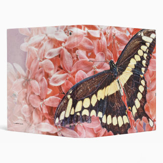 3 ring Binder with a Giant Swallowtail Butterfly