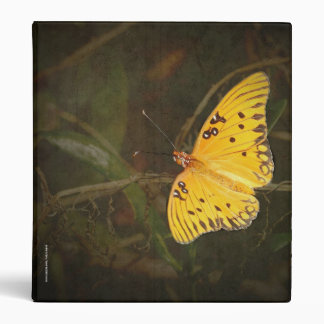 3 ring Binder with a Gulf Fritillary or Passion Bu
