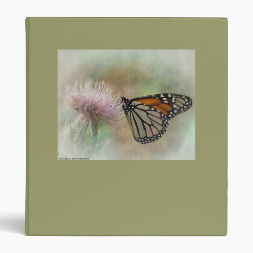 3 ring Binder with a Monarch Butterfly
