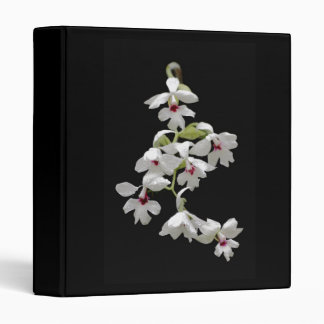 3 ring Binder with white Orchid