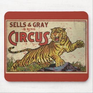 3 Ring Circus - circa 1930 distressed Mouse Pad