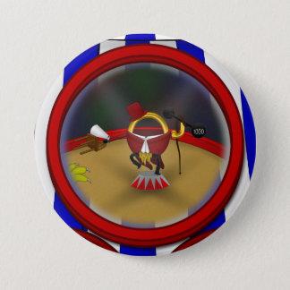 3 Ring Circus - Ringmaster Pinback Button