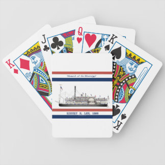 3 rob e lee ribbon design bicycle playing cards