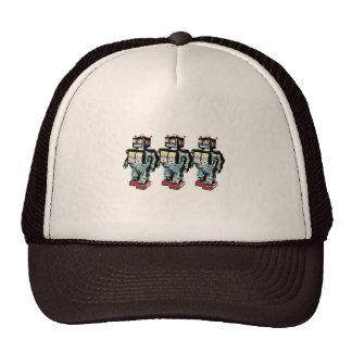 3 robots gorras