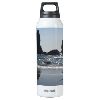 3 Rocks In The Ocean Thermos Bottle