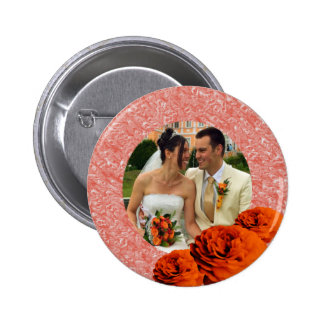 3 Roses 2 Inch Round Button