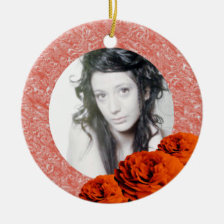 3 Roses/Photo Christmas Ornament