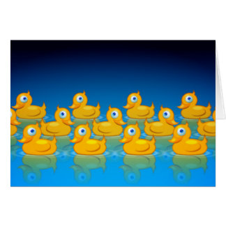 3 rows of rubber ducks card