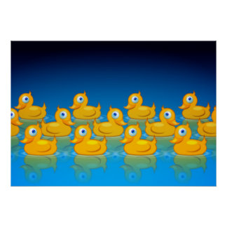 3 rows of rubber ducks print