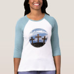 3 Rugged Crosses with Sky T Shirt