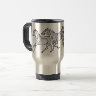 3 Running Horses BABBS Travel Mug