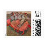 3 Russian Dancers by Degas, Vintage Impressionism Postage