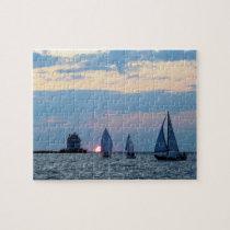 3 Sailboats at Sunset Puzzle