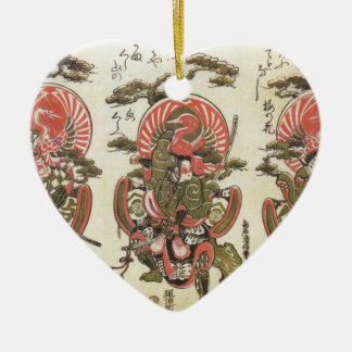 3 Samurai Ceramic Ornament