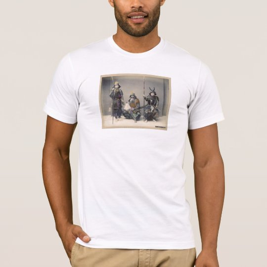 3 Samurai in Armor Vintage Japanese Photo Tee