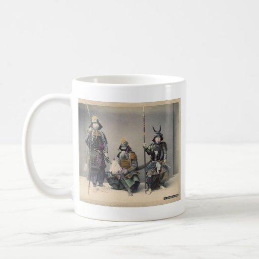 3 Samurai in Armor Vintage Photo Classic White Coffee Mug
