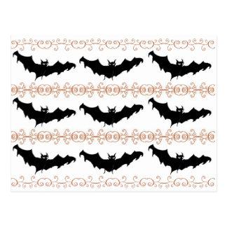 3 Scary Bats Postcard