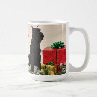 3 Schnauzers Christmas mug