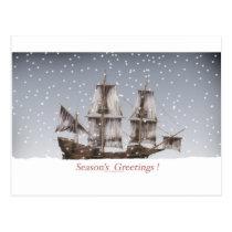 3 seasons greetings postcard