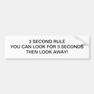 3 Second Rule Bumper Stickers