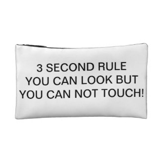 3 Second Rule Cosmetic Bag
