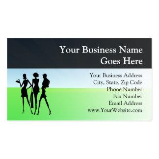 3 Shopping Women Friends Business Cards