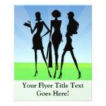 3 Shopping Women Friends Flyers