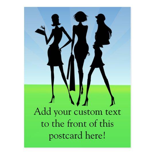 3 Shopping Women Friends Postcard