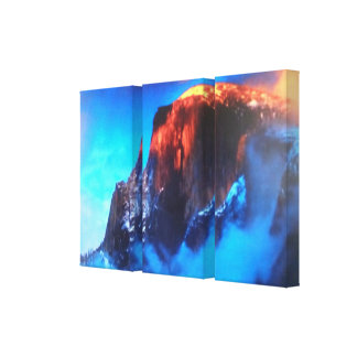 3 Side by Side Canvas Wrapped Yosemite