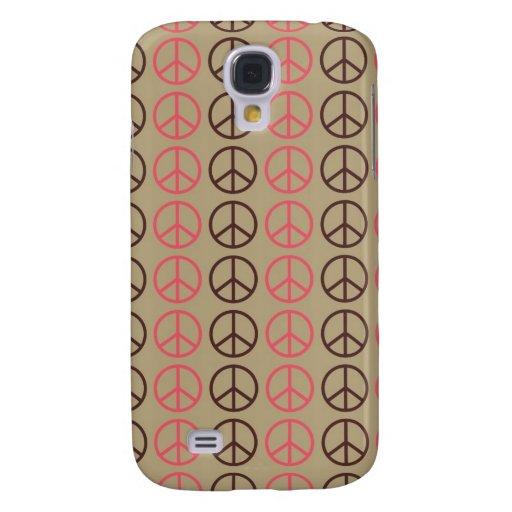 3 signos de la paz rosados de Pern Brown Funda Para Galaxy S4