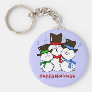 3 Singing Snowmen Keychain